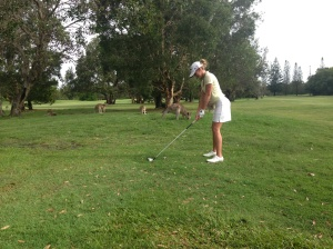 Golfin with the Roos!