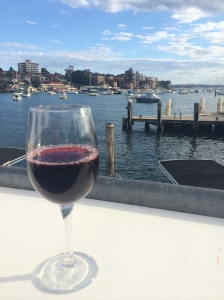 Can't go without a glass of wine in Manly:)